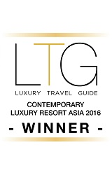 2016 Luxury Travel Guide contemporary luxury resord Asia Award Winner